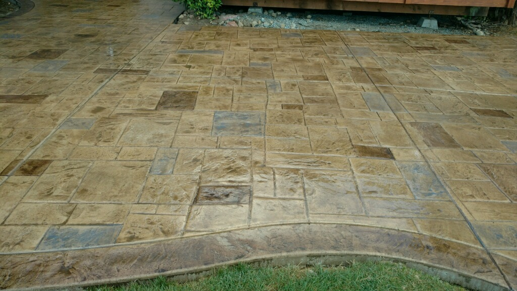 Colored Stamp Patio